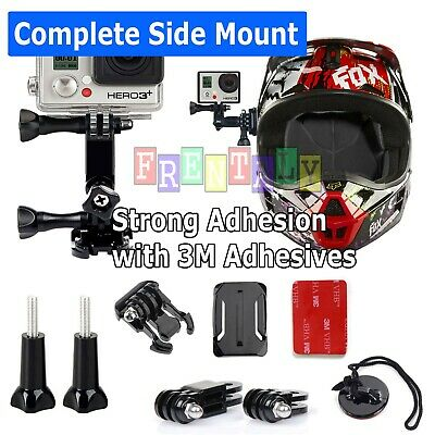 GoPro Side Helmet Mount 3M Sticky Pack Genuine OEM for Snowboard, Bicycle, Bike