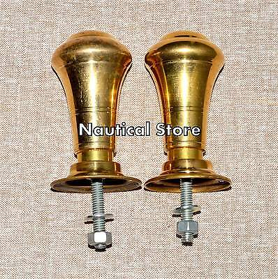 Antique Style Door Knobs Handles with Plates Architectural Vintage Old Brass #