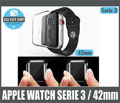 Apple Watch Serie 3 Screen Protector Iwatch 42mm Cover Protection Case