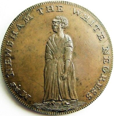 Great Britian_1/2 Penny_Conder Token_Middlesex 317_WHITE NEGRESS