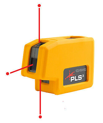 Pacific Laser Systems PLS 3 (PLS-60523N) Three Point Red Self Leveling Laser
