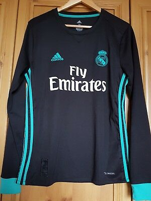 Mens Medium Real Madrid Away Shirt 17/18 By Adidas In Great Condition