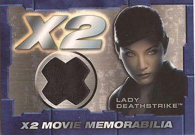 "X-Men United X2 - ""Lady Deathstrike"" Memorabilia Costume Card"