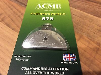 GENUINE Acme Shepherds Lip Mouth Whistle Sheep Dog Training chrome nickel no.575