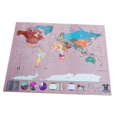 58x83cm Scrape Off World Map Learn Deluxe Large Travel Wall Poster Home