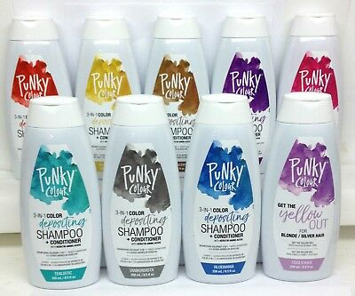 NEW Punky Colour - Depositing Shampoo+Conditioner 8.5oz/250ml - Choose Any Color