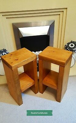 Pair Of Rustic Bedside Tables/Side Table/Small Sofa Table/Winter Sale on!!