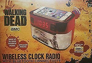 Walking Dead Wireless Clock Radio w/ Bluetooth USB Charging Port & LCD Screen