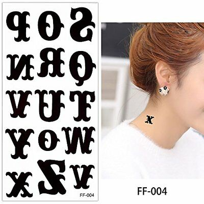 Temporary Tattoos Alphabet Black Letters Small Large Temp Letter Name Tattoo UK