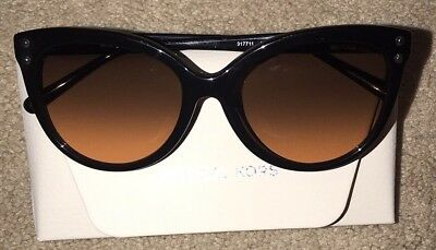 NWT! Michael Kors Jan Cat-Eye Sunglasses Black / Brown MK-2045