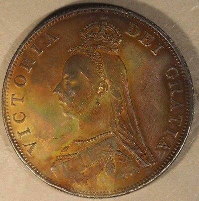1888 Great Britain Double Florin Silver Original     ** FREE U.S. SHIPPING **
