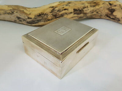 Used Antique Solid Silver Cigarette Case Box 345 G.