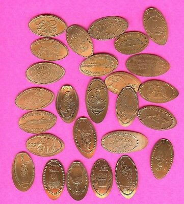CALIFORNIA TOURIST ATTRACTIONS Elongated Smashed Penny Lot 25 +