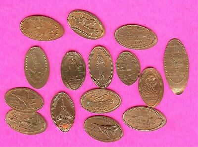 MILITARY WWII WAR Army Navy Air Force  Elongated Smashed Penny Lot