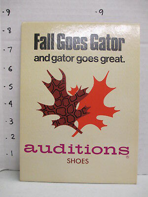AUDITIONS SHOES 1960s store display sign vintage women's clothing alligator FALL