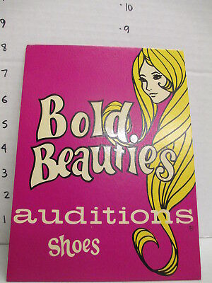 AUDITIONS SHOES 1960s store display sign vintage women's clothing psychedelic