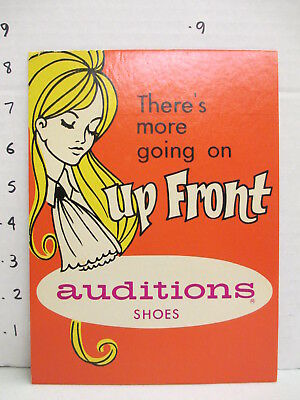 AUDITIONS SHOES 1960s store display sign women's clothing psychedelic mod FRONT