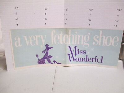 MISS WONDERFUL SHOES 1960s store display sign women's clothing poodle FETCH
