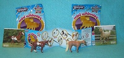 Breyer Mini Whinnies Surprise Series 1 Apache & Toby Standing Qh Stallions New