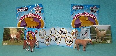 Breyer Mini Whinnies Surprise Series 1 Apache & Toby Standing Qh Stallions New#2