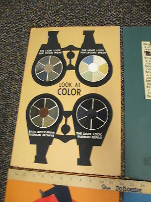 STETSON hat shoes 1960s store display sign (1) felt ad original art KALEIDOSCOPE