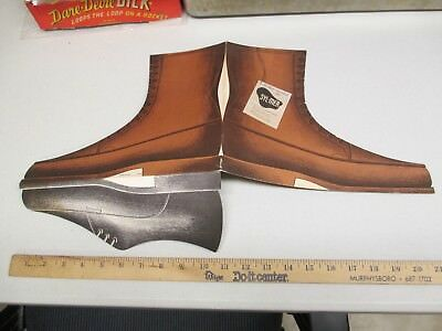SYL-MER Dow Corning silicone leather work boot 1950s store display sign brochure