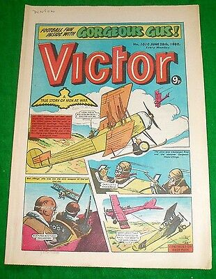 Raf British Avro 504 Aircraft Over  Belgium  Ww1 Cover Story Victor Comic 1980