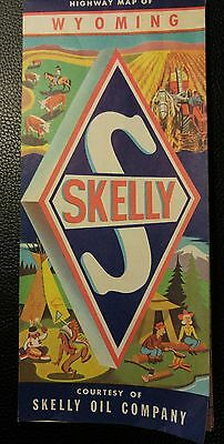 1967 Skelly Oil Company Wyoming Road Map / Gasoline / WY