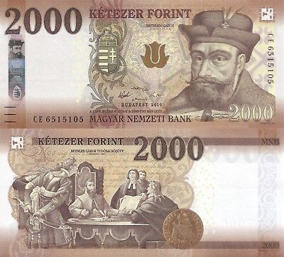 Hungary 2000 Forint (2016)- Prince/Scientists/p204 UNC
