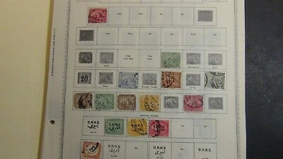 Egypt Stamp collection on Minkus pages to '96 + stock, glassines, etc