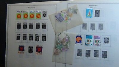 Bangladesh Stamp collection on Minkus pages to '94 , stock, glassines, etc.