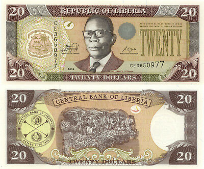 Liberia 20 Dollars (2009) - Samuel Doe/Palm Nuts/p28e UNC