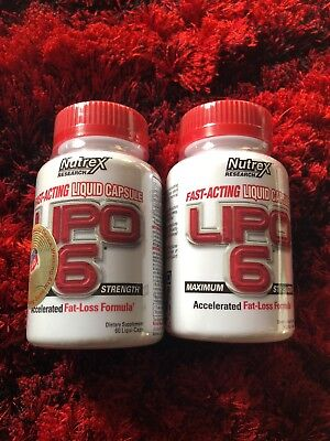 2 pack Nutrex LIPO-6 White Accelerated Fat Loss Formula - Exp 2/18!!