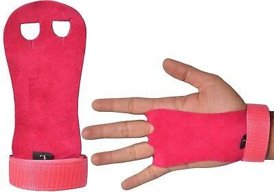 Sports Kids Children Sizes Gymnastic leather palm protectors hand grips Pink