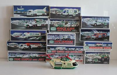 Lot of 15x Hess Toy Trucks Cars Helicopter Airplane Jet Racer w/ Original Boxes