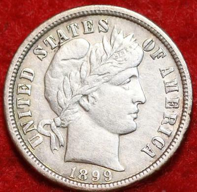 1899-O New Orleans Mint Silver Barber Dime