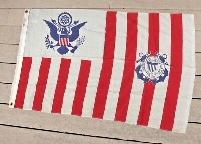 WW2 USCG US Coast Guard Ensign Ships Cutter Colors Flag No. 4