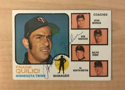 1973 TOPPS BASEBALL FRANK QUILICI #49 TWINS EXMT *55521