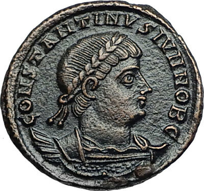 CONSTANTINE II JR son of the Great Authentic Ancient Roman Coin SOLDIERS i67966