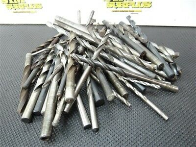 """Lot Of 50+ Hss Assorted Drills 5/64"""" To 1/2"""" C-L Cle Ptd"""