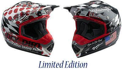 Troy Lee Designs SE Day In The Dirt White Helmet PEAK ONLY