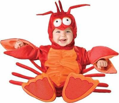 InCharacter Baby Lil' Lobster Costume Red/Orange Large 18-24 Months 2T New