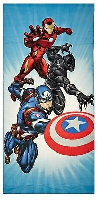 Marvel Avengers Civil War Iron Man Captain America Beach Bath Towel Velour