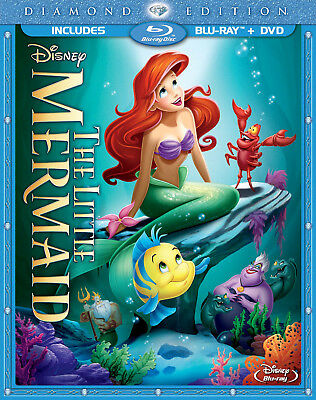The Little Mermaid (1989) Diamond Edition Blu-ray/DVD * New * Slipcover *