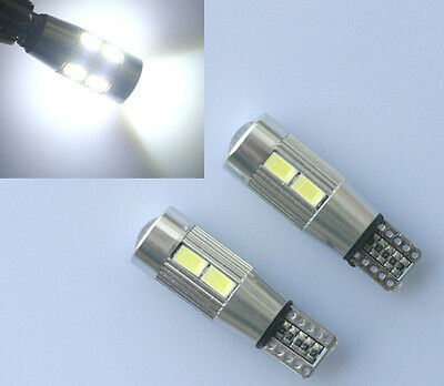 2x T10 CANBUS CREE LED 10 SMD 501 W5W SUPER BRIGHT WEDGE LIGHT WHITE XENON BULBS