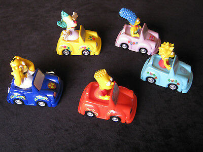 The Simpsons Characters In Cars, Qty 5