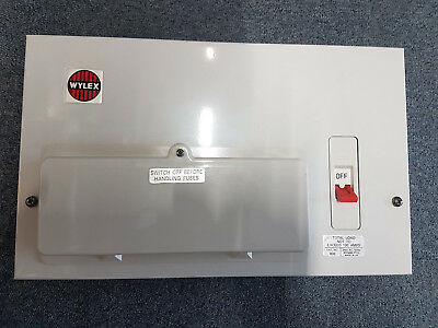 Consumer Unit, 8 Way Main Switch, Metal Cased