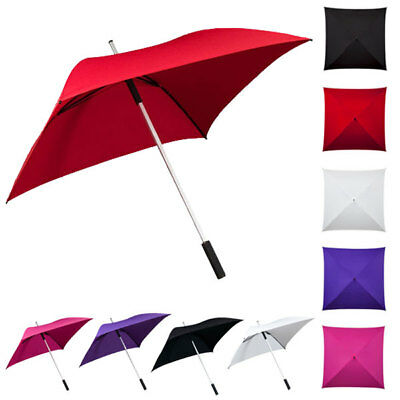 Windproof Square Shaped Umbrellas - Golf Size