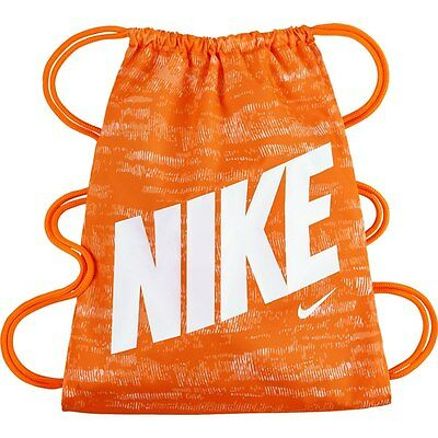 88a799d041 Nike YA School Gym Sack Gym Sac Kids Shoulder Drawstring Bag- Orange White