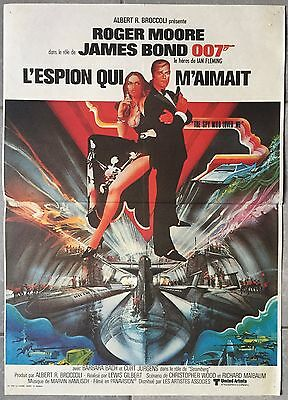 Affiche L'ESPION QUI M'AIMAIT Spy who loved me ROGER MOORE Barbara Bach 40x60cm